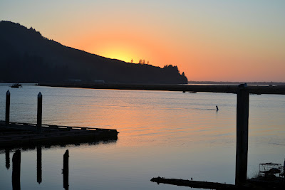 photo of sunset on the Nehalem River by Nancy Zavada