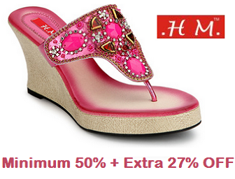 Jabong: Buy HM Wedges For Women at Rs. 437