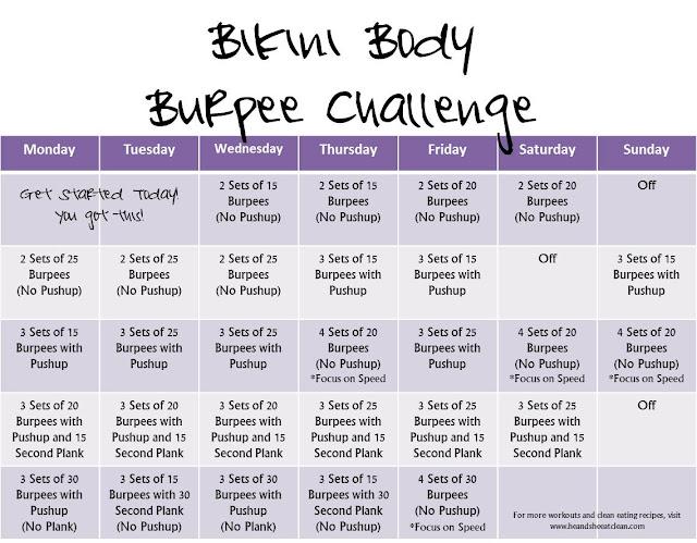 Monthly Challenge :: Bikini Body Burpee Challenge ~ He and She Eat ...