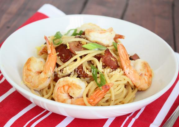 My Kitchen Snippets: Shrimp Carbonara