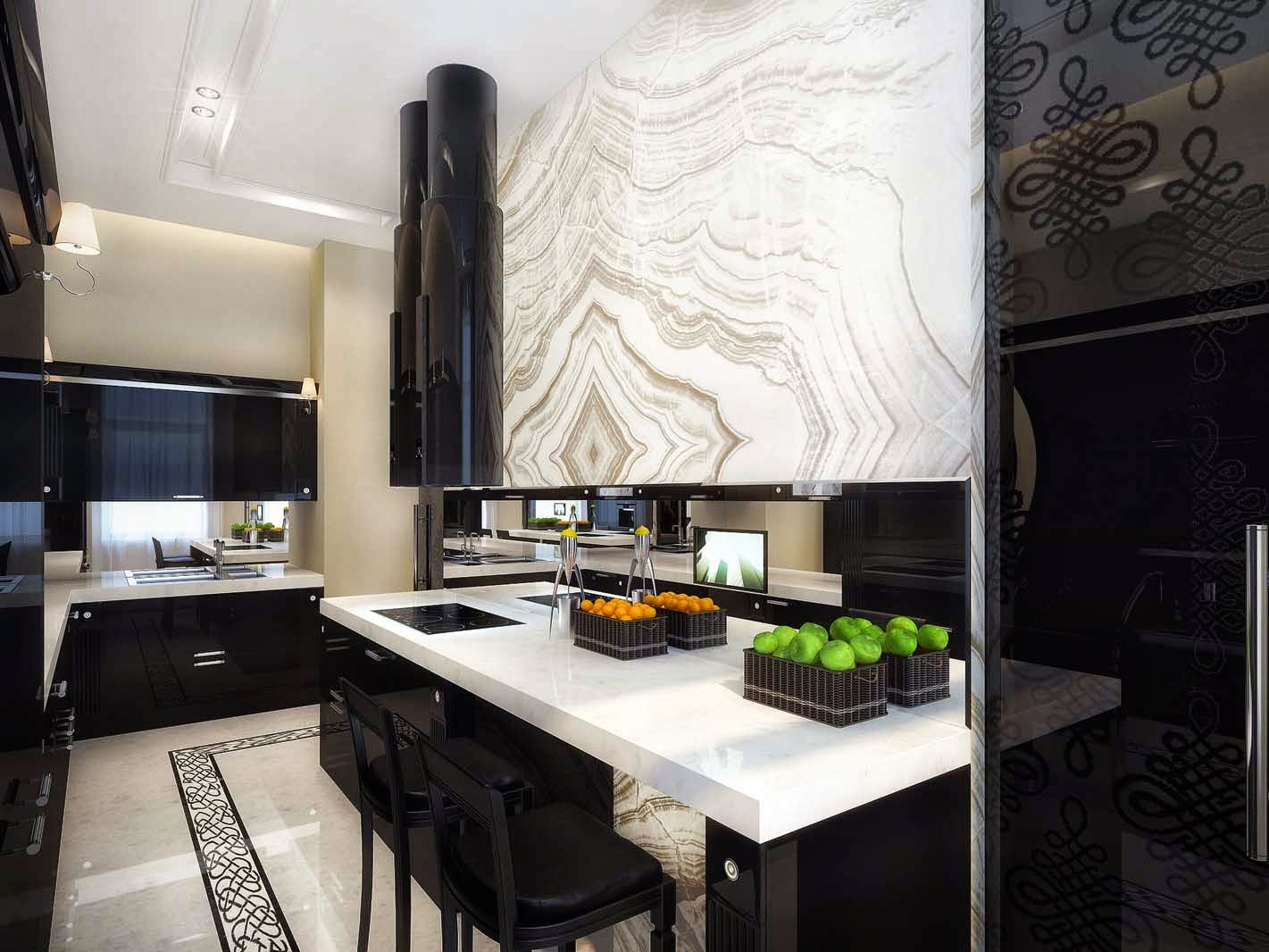 Luxury life design classic and glamorous luxury apartment - Modern contemporary kitchen designs ...