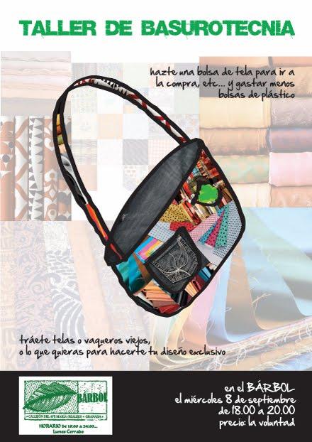 BASUROTECNIA: Bosa para la compra con restos de telas