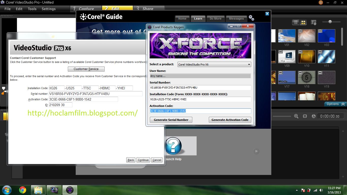 keygen corel videostudio pro x10