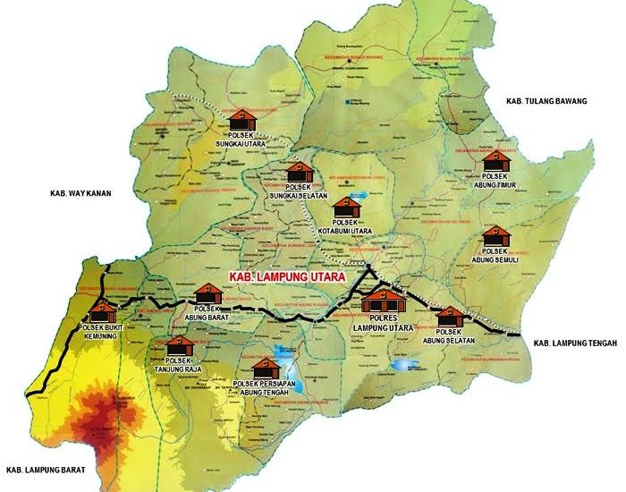 Peta Polres Lampung Utara