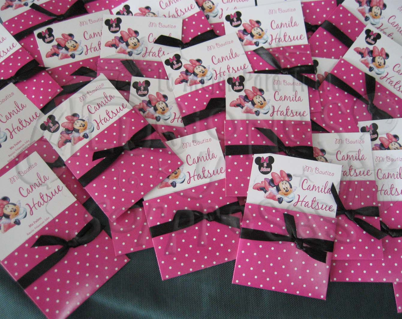 Invitación Bautizo Minnie mouse