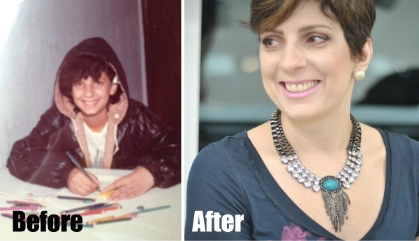 Alessandra Faria antes e depois