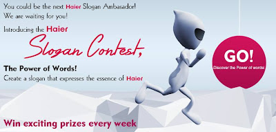 Contest One Word Slogan Win Exciting Prize Every Week Haier Appliances India Pvt Ltd