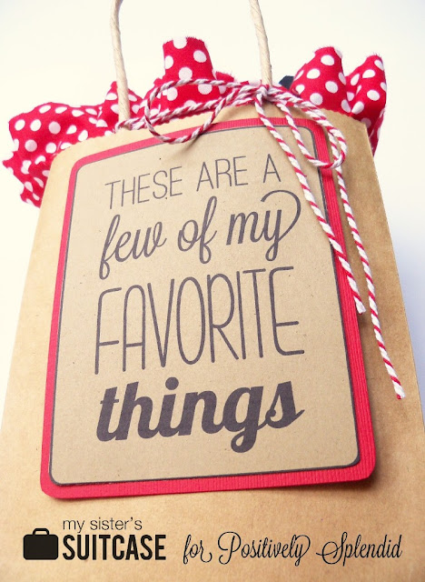 Favorite things gift idea positively splendid crafts for Favorite things home decor