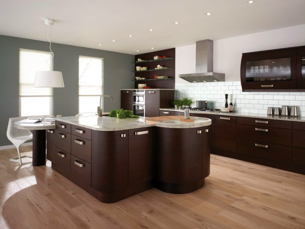Modern Brown Kitchen Island Kitchens