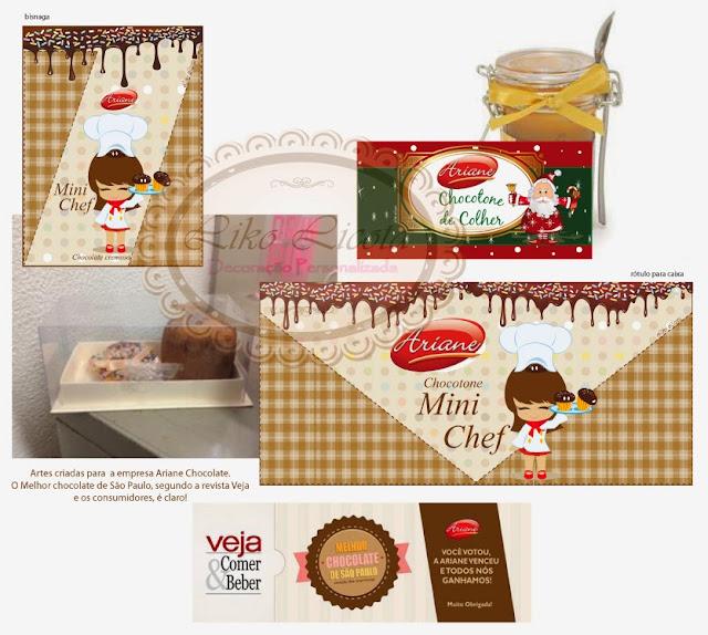 rotulos personalizados chocolates ariane