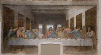 Last Supper painting with Jesus and the Apostles
