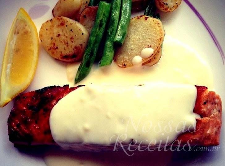 Receita de filés de peixe salmão ao forno