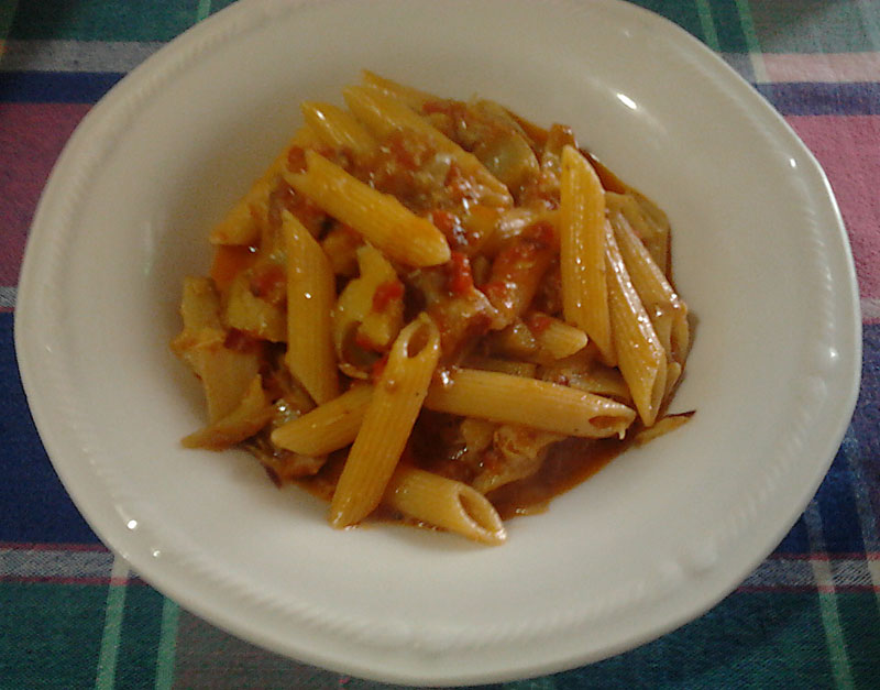 Ricetta Penne con carciofi