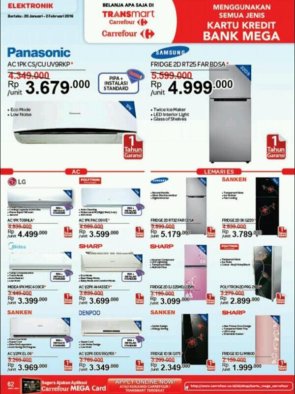 Harga Promo Kulkas Di Carrefour 20 Januari - 2 Februari 2016