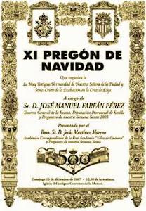 XI Pregón de la Navidad de Écija 2007 en la Iglesia de la Merced.