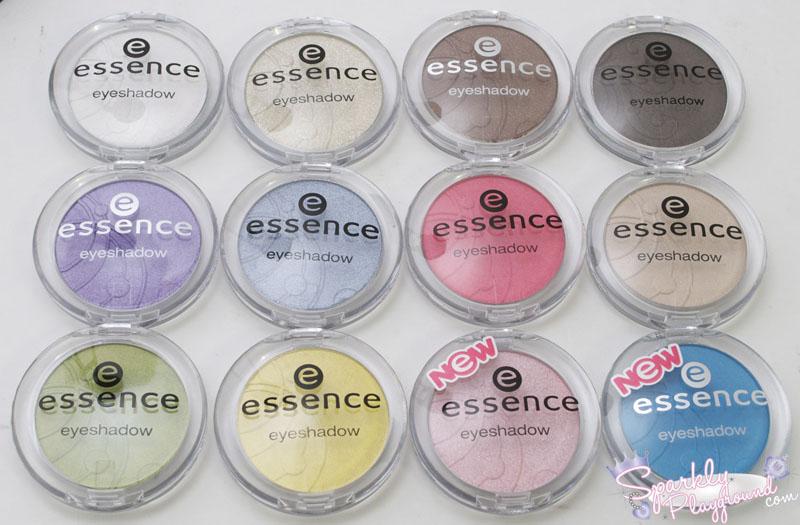 REVIEW: Essence Mono Eyeshadows - Sparkly Playground