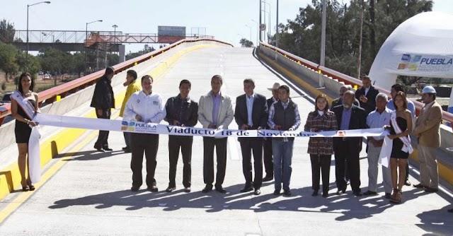 Gobernador inaugura viaducto 18 de noviembre