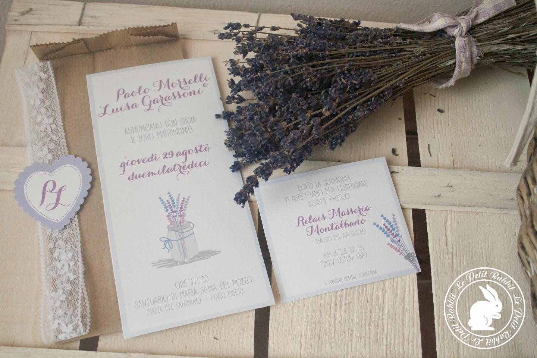 Amato WEDDING: Wedding stationery, partecipazioni matrimonio Lavanda AK87