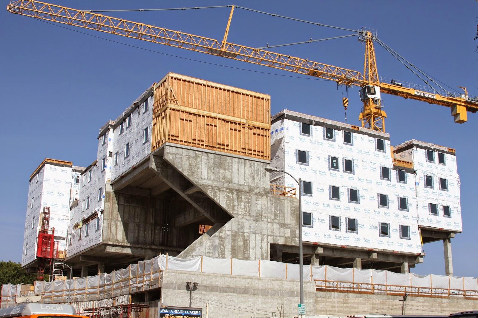 home builder la 39 s skid row gets slick modular apartment building