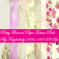 Pretty Flowered Paper Texture Pack, digital scrapbooking paper, digi kits, flowered paper, floral stationary