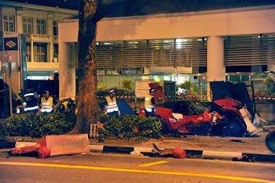 Kemalangan Ferrari 599 GTO Singapore