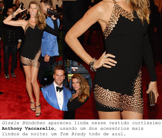 MET BALL 2013-ALTA COSTURA PUNK-Gisele Bundchen-Tom Brady