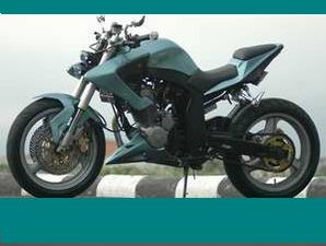 MODIFIKASI MOTOR HONDA TIGER STREET FHIGTER YAKUZA KOSTUM NEW 2000. title=