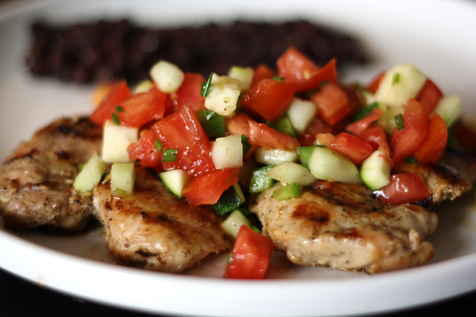 Spicy Chicken Thighs With Cucumber Orange Salsa Recipes — Dishmaps