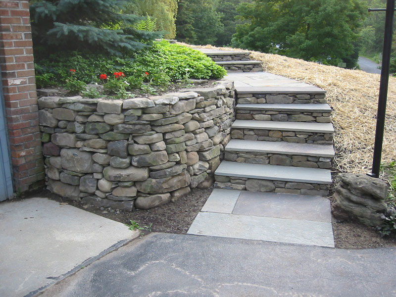 Marble Wall Stairs : Dry stone building best rock steps