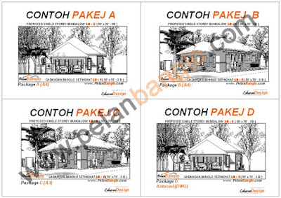 Idea rumah idaman anda idea design bungalow pelan for Plans d arkitek