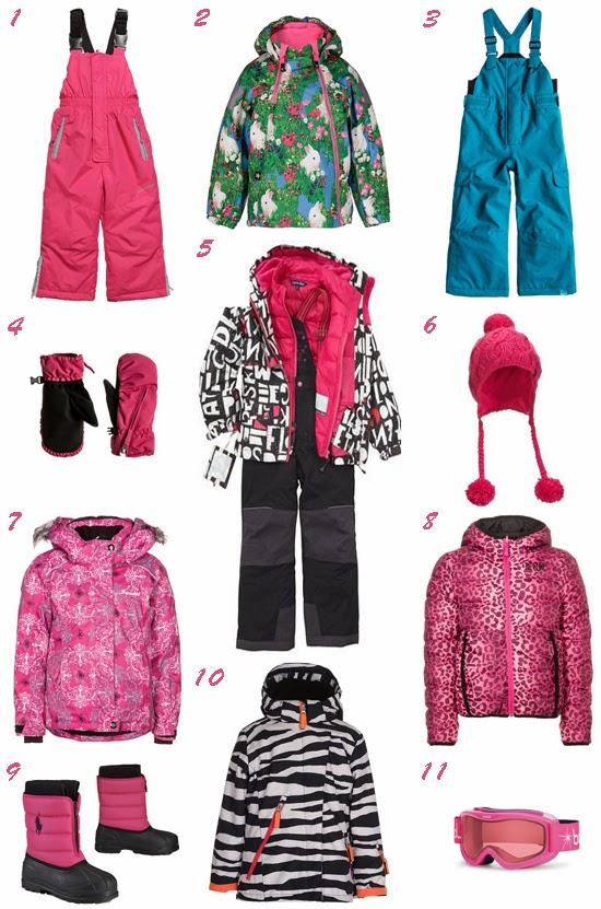 Selección ropa nieve para niña