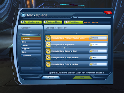 DC Universe Online - SC Exobyte Data