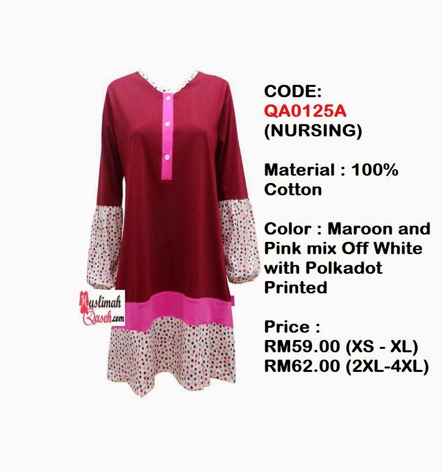 T-Shirt-Muslimah-Qaseh-QA0125A