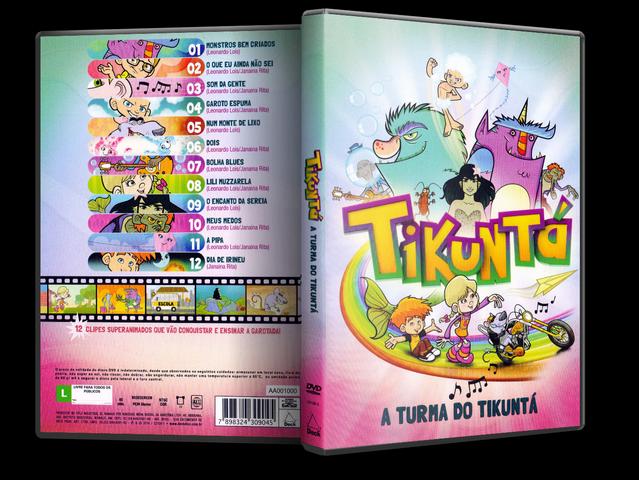 Capa DVD Tikuntá A Turma Do Tikuntá