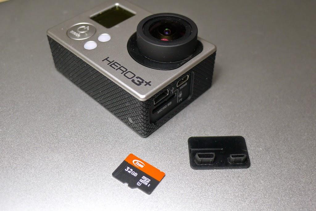 GoPro Les connecteurs et la trappe de la micro sd