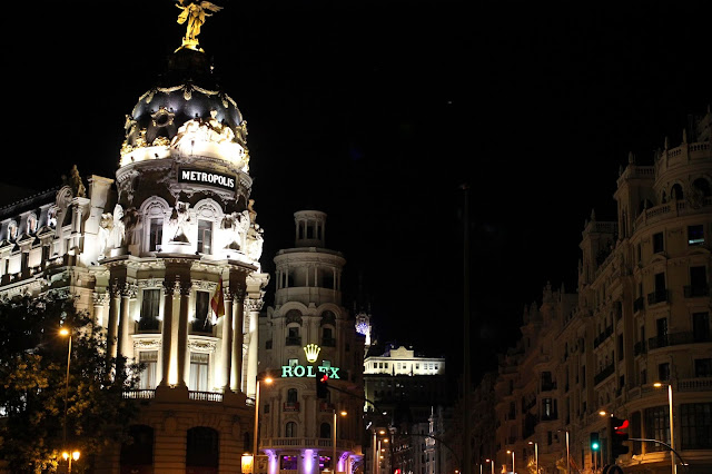 Gran Via at Night | Madrid | Chichi Mary Online Kid's Boutique