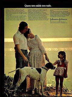 propaganda Johnson & Johnson - 1974.  anos 70.  1974. década de 70. os anos 70; propaganda na década de 70; Brazil in the 70s, história anos 70; Oswaldo Hernandez;