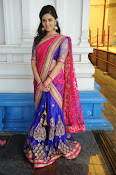 Sri Mukhi Gorgeous Half saree Photos-thumbnail-5