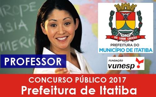 Apostila Concurso Prefeitura de Itatiba 2017