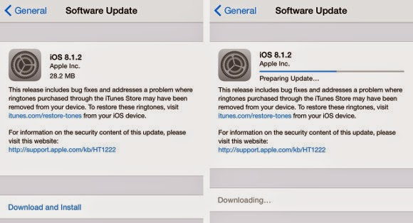 apple update ios 8.1.2