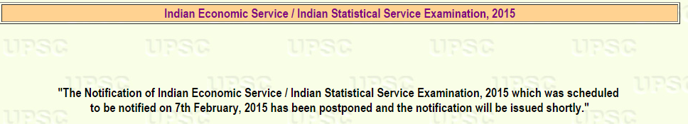UPSC IES ISS Recruitment Advertisement 2015