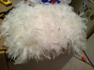 feather skirt dress lace diy white boa