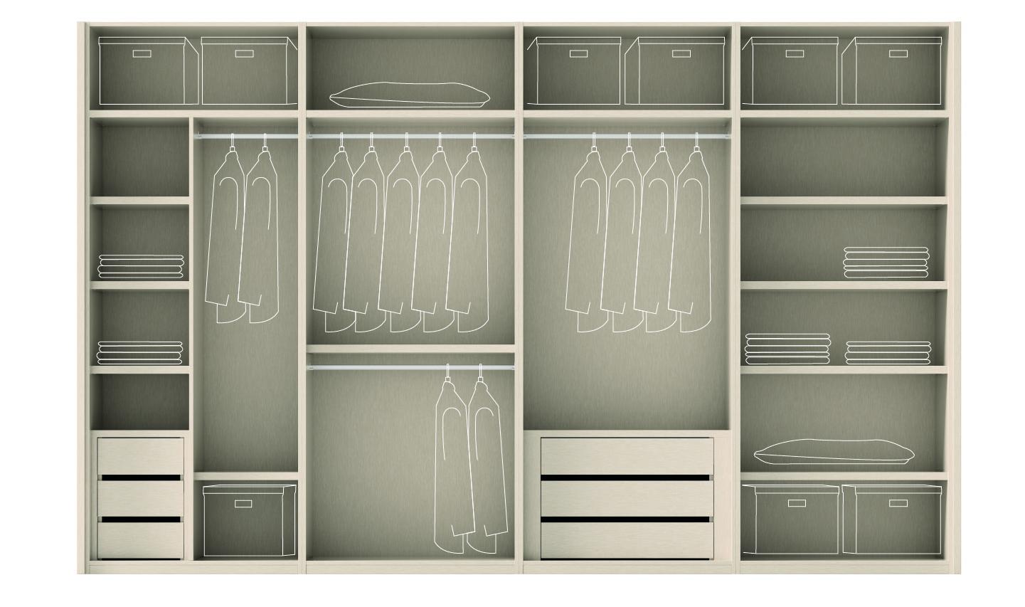 Interno armadi mobili ros spazio ante scorrevoli - Como hacer puertas de armario ...
