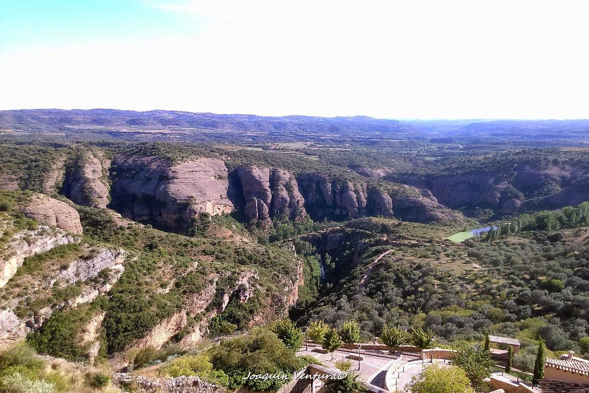 El río Vero desde la Colegiata de Santa María en Alquézar