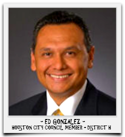 ED GONZALEZ IS CURRENTLY SERVING HIS FINAL TERM IN OFFICE