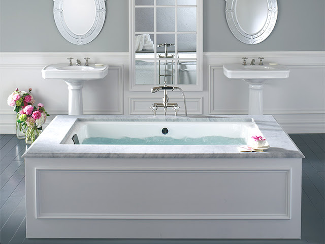 Fiorito interior design rub a dub dub the skinny on bath for Soaking tub vs bathtub