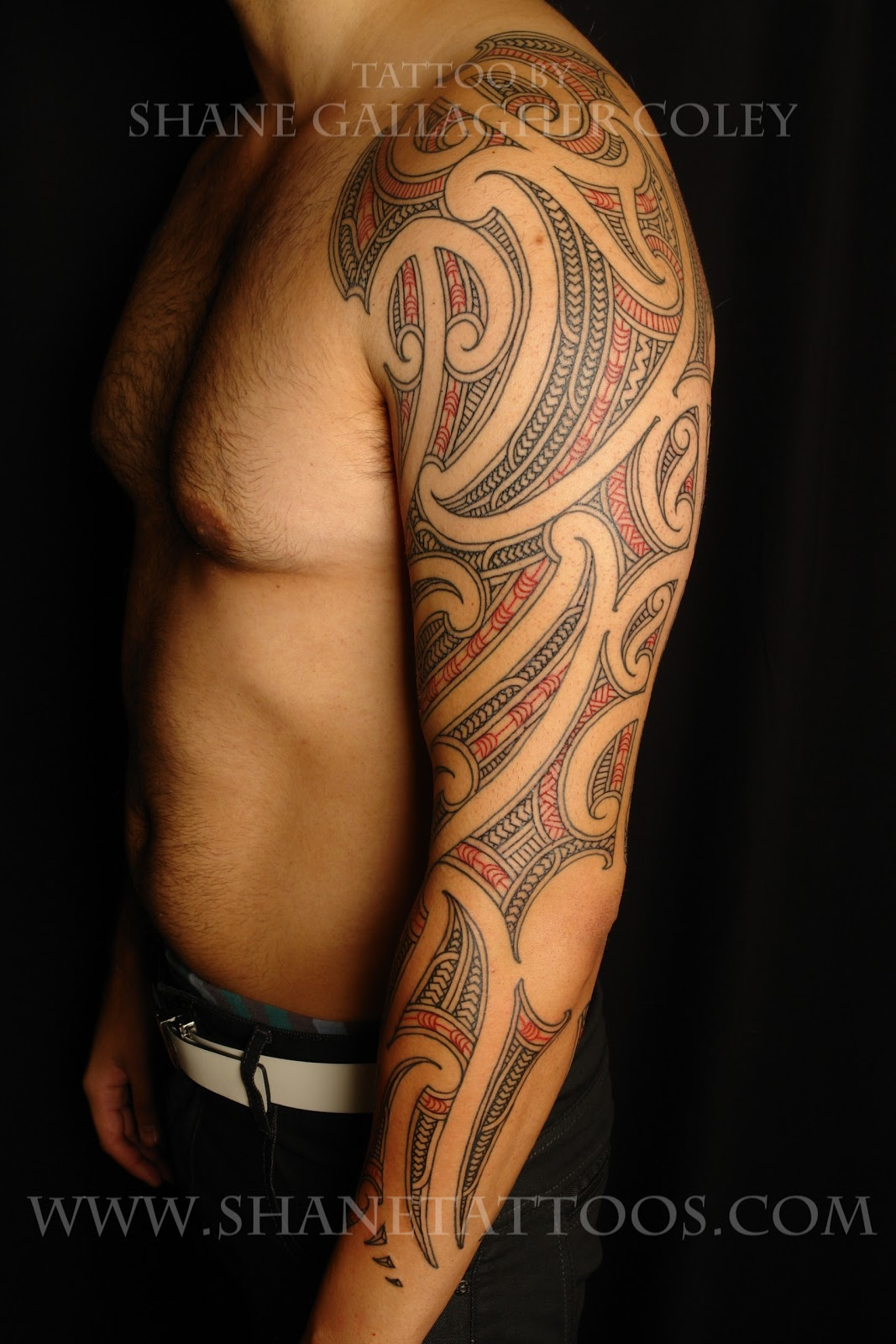 maori polynesian tattoo maori sleeve tattoo on matt. Black Bedroom Furniture Sets. Home Design Ideas