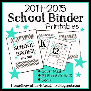 FREE School Binder Printables