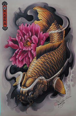 Fish koi Tattoo Design