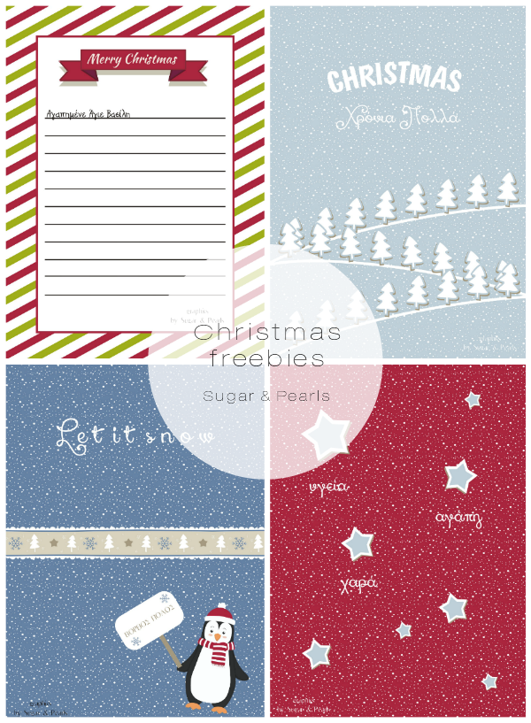 Christmas freebies-Sugar & Pearls